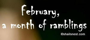 Month of ramblings
